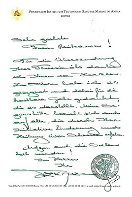 Segnungsbrief theresienoil