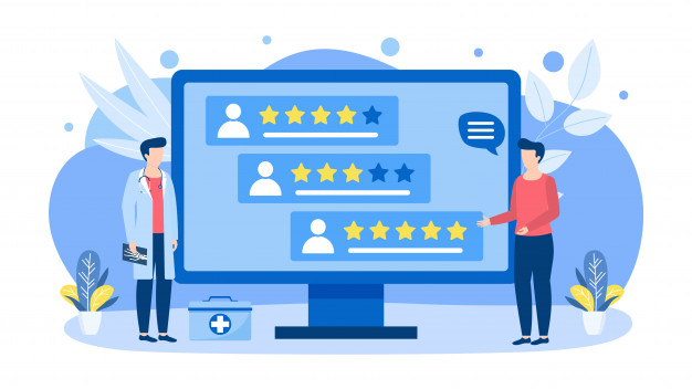doctors-choice-by-rating-score-reviews-illustration-concept-isolated-banner_109722-640